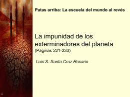 La impunidad de los exterminadores del planeta