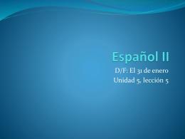 Español II - language