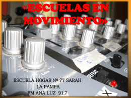 ESCUELA HOGAR Nº 77 SARAH – LA PAMPA