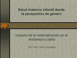 Impacto de la medicalización en embarazo y parto
