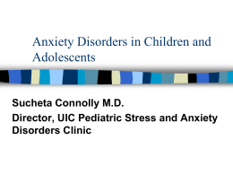 ANXIETY DISORDERS: INTEGRATING EVIDENCE