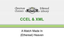 CCEL & XML