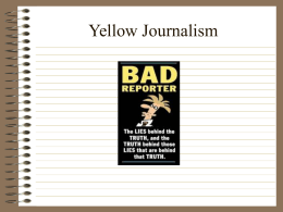 Yellow Journalism - Heide Trask High School
