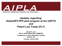 USPTO Update - AIPLA Homepage