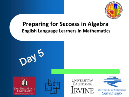 Preparing for Success in Algebra KICK