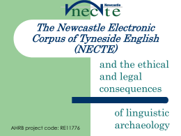 The Newcastle Electronic Corpus of Tyneside