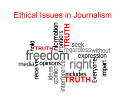Ethical Issues in Journalism