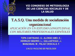 SOCIALIZACIÓN ORGANIZACIONAL ADAPTACIÓN DE LA