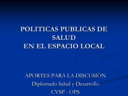 GESTIÓN DE PROYECTOS SOCIALES EN EL ESPACIO LOCAL