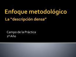 Enfoque metodológico