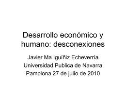 Desarrollo económico y humano: desconexiones