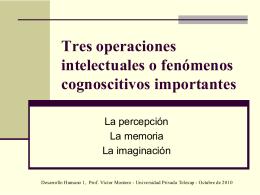 Tres operaciones intelectuales o fenómenos