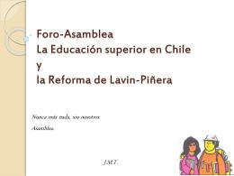 Foro-Asamblea La Educación superior en Chile y la