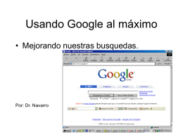 Usando Google al máximo