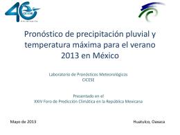 Pronóstico de precipitación pluvial y temperatura