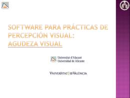 VISIÓN DE MOVIMIENTOS - Universidad de Alicante