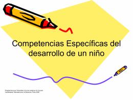 Competencias Específicas del Desarrollo de un niño