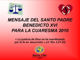 Diapositiva 1 - Delegación de Pastoral del Trabajo