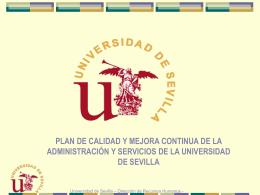 Propuesta: Plan de calidad de la administración y