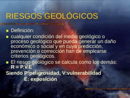 GEOSFERA Y RIEGOS GEOLÓGICOS
