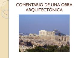 COMENTARIO DE UNA OBRA ARQUITECTÓNICA
