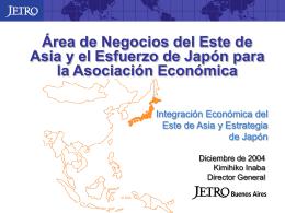 Area de Negocios del Este de Asia y el Esfuerzo de