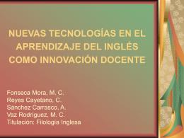NUEVAS TECNOLOGÍAS EN EL APRENDIZAJE DEL INGLÉS