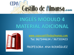 INGLÉS MÓDULO III ESQUEMAS