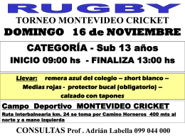 Torneo PABLO VILLA. Sub 13 y Sub 14 Cantegril