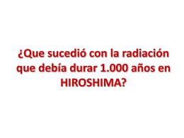 Qu'est-il arrivé a la Radiation qui devais durée