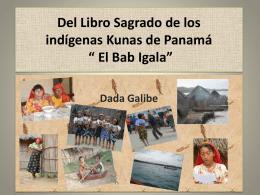 """Del Libro Sagrado de los indìgenas Kunas """"Pabi"""