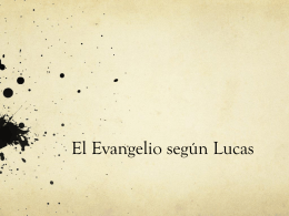 El Evangelio según Lucas