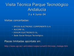 Visita al Parque Tecnológico de Andalucia