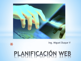 PLANIFICACIÓN WEB