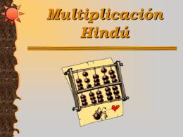 Multiplicación Hindú Siglo V