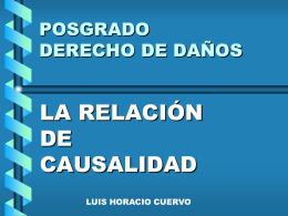 RELACIÓN DE CAUSALIDAD - Estudio de Abogados