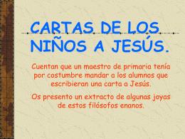 Lettere dei bambini a Gesù.