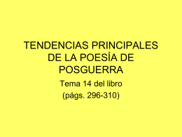 LÍRICA DE POSGUERRA