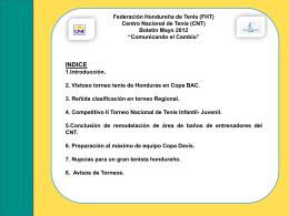 Diapositiva 1 - Federación Hondureña de Tenis -