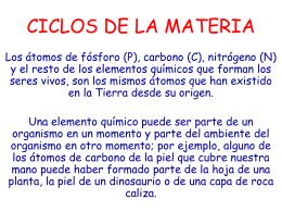 CICLOS DE LA MATERIA - VIDA, La Ciencia de la