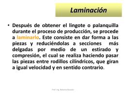Laminación - EDUTECNO | EDUCACION TECNOLOGICA