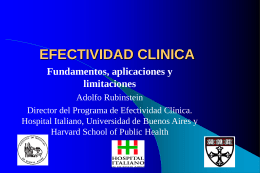Qué es Efectividad Clínica?