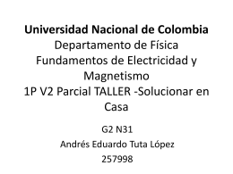 Universidad Nacional de Colombia Departamento de