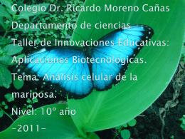 Colegio Dr. Ricardo Moreno Cañas Departamento de