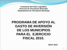Contraloría del Poder Legislativo. Dirección de