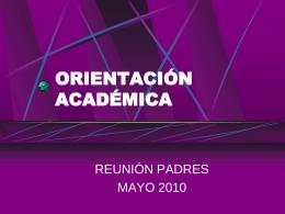 DEPARTAMENTO DE ORIENTACIÓN - Pablo VI