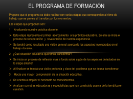 PROGAMA DE FORMACIÓN