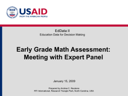 Early Grade Math Assessment Meeting with the