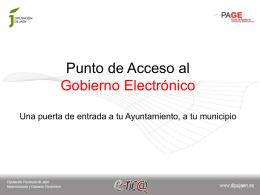 Puntos de Acceso al Gobierno Electrónico