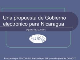 Una propuesta de gobierno electrónico para
